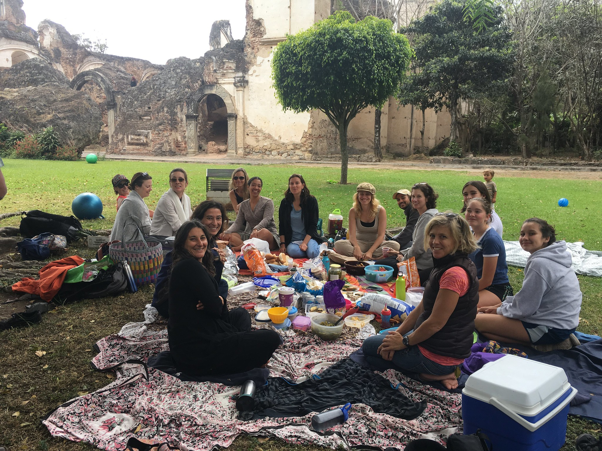 Picnic at one of the mani Ruins of Antigua Guatemala