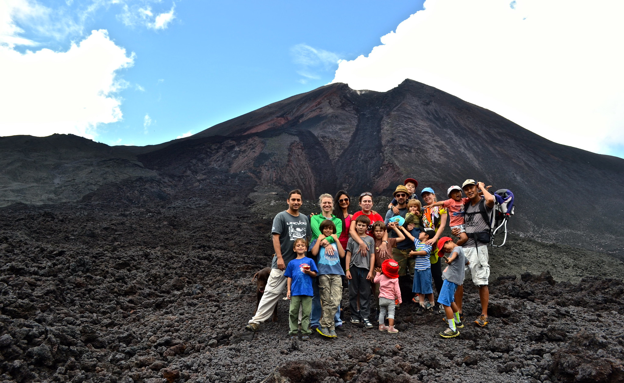 Who thinks volcanoes are the best place to visit in Central America with kids?