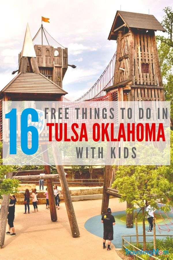 The Gathering Place in Tulsa is America's #1 best new attraction. There's plenty more FREE fun things to do in Oklahoma's second largest city. Here are 16 of our favorites! #freethings #familytravel #midwestdestinations #roadtrip