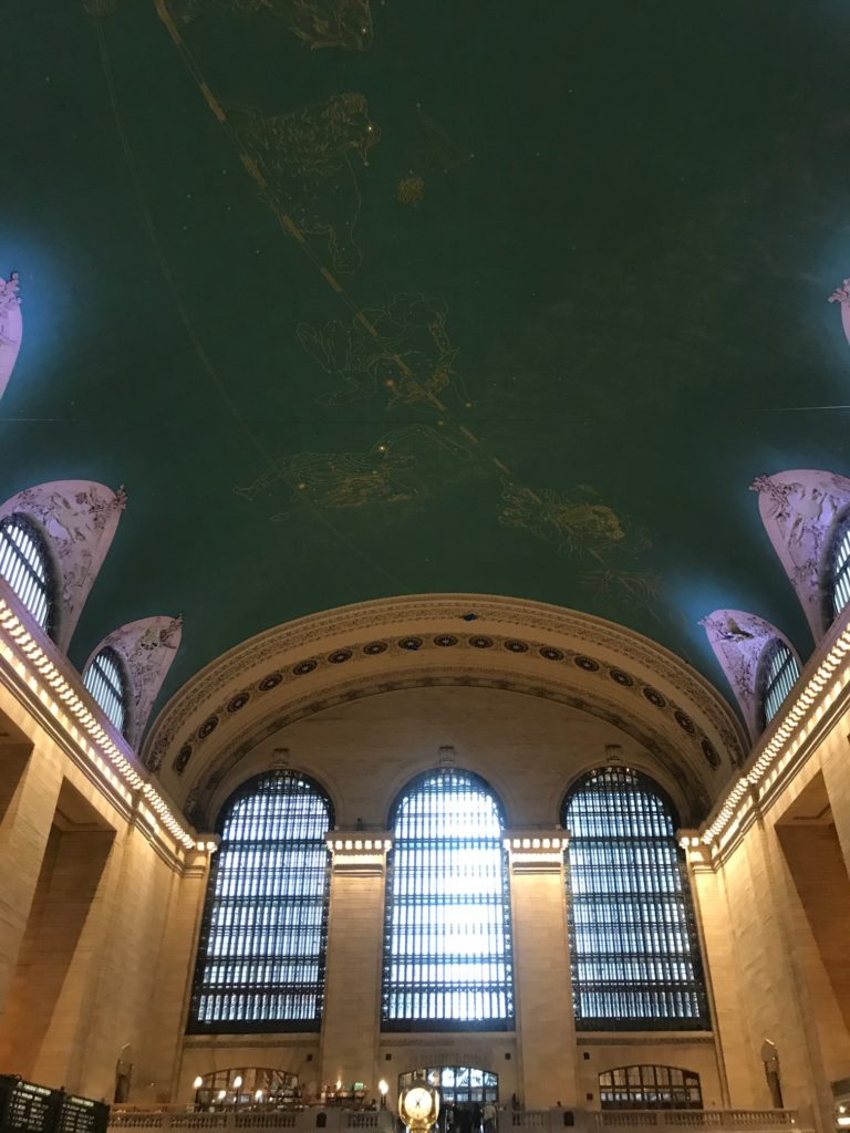 Look up in Grand Central in New York