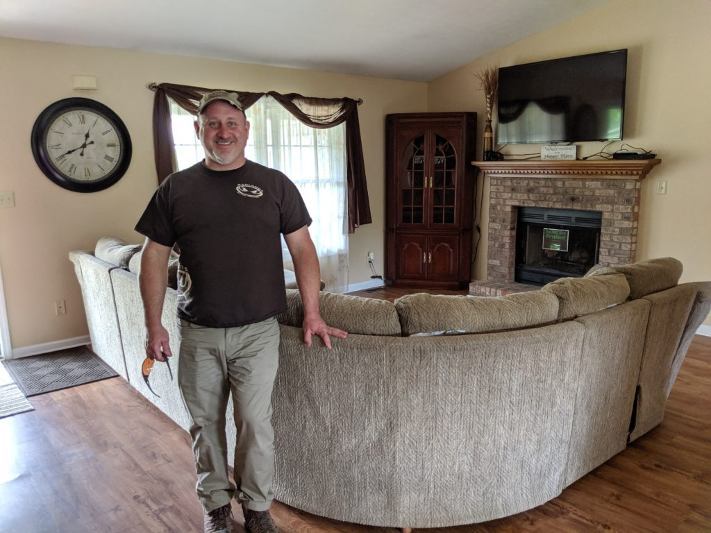 Kyle Knosp, owner of The Badlands off road park, shows off one of the family rental properties.