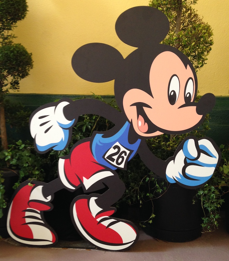 Mickey is ready to run