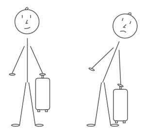 Stick Man Suitcase Sidebends
