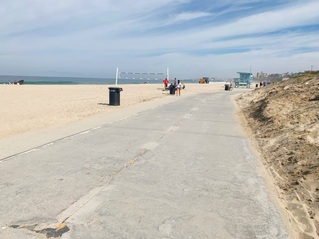 The bike path is one of the fun things to do in Redondo Beach.