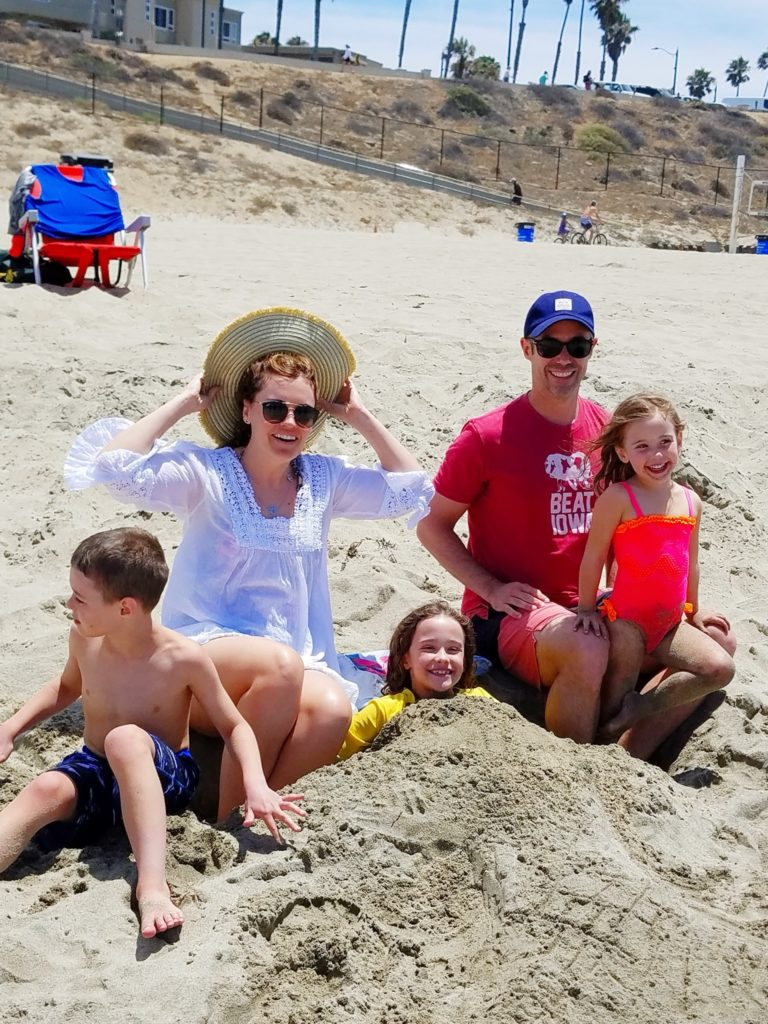 Playing in the sand is one of the things to do in Redondo Beach.