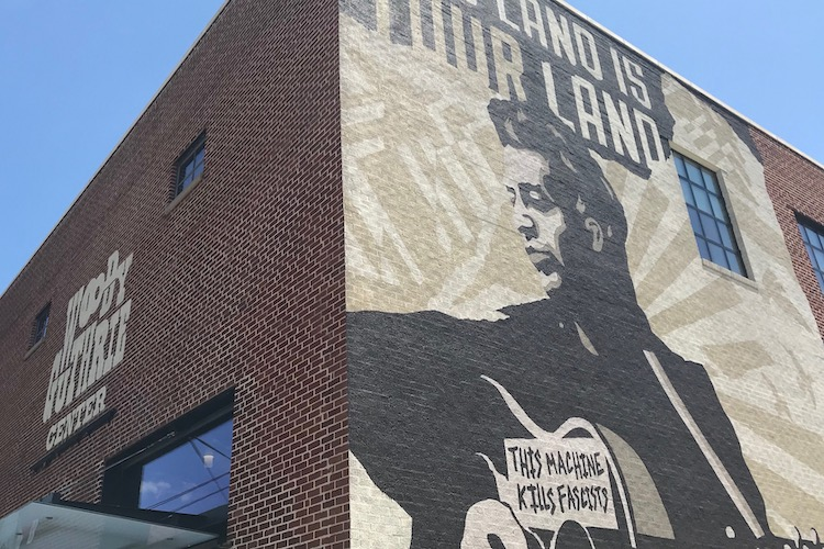 Exterior of the Woody Guthrie Center in Tulsa Oklahoma.