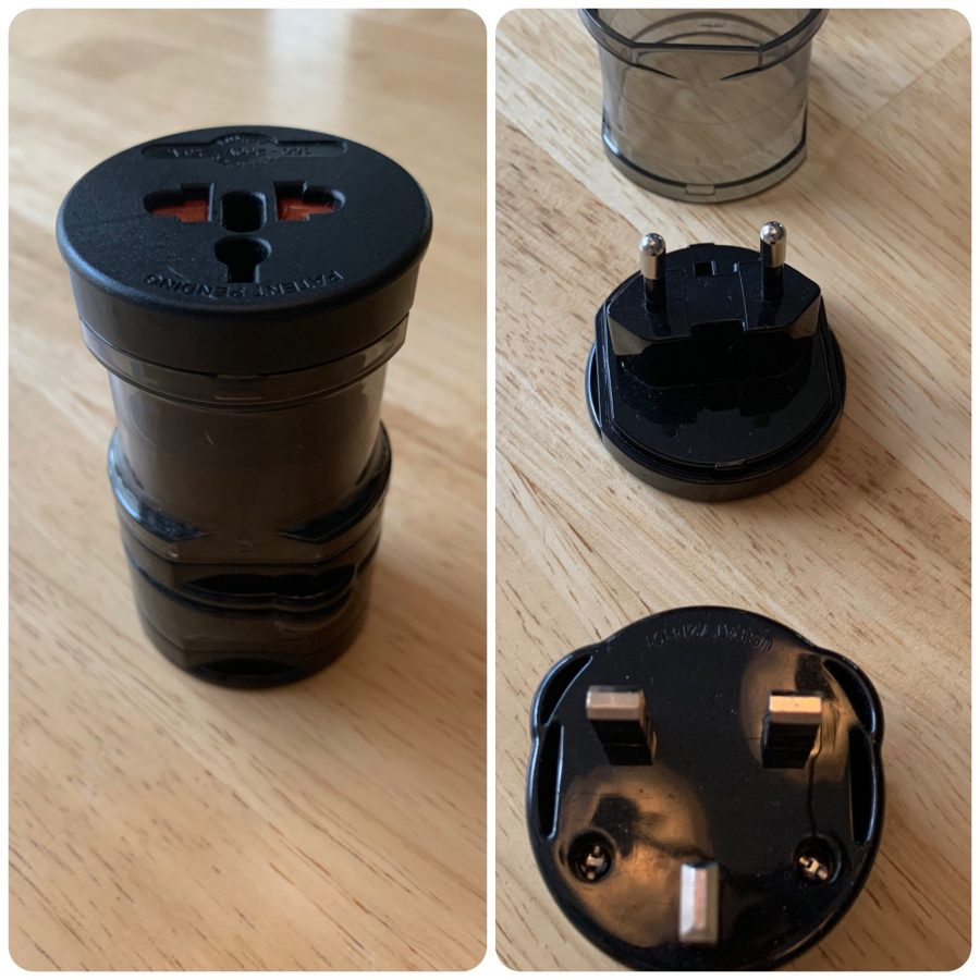 Type-F, Type-C, Type-G Europe World Travel Adapter (Photo Credit: John C. Vanda)