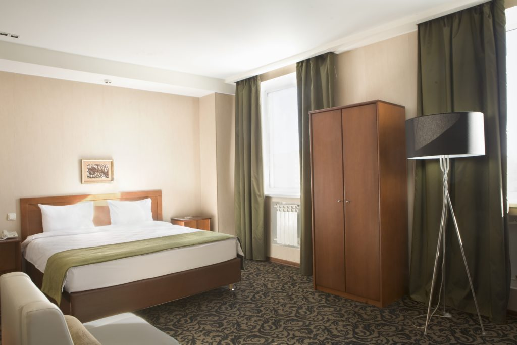 A basic hotel room is fine for a business traveler.