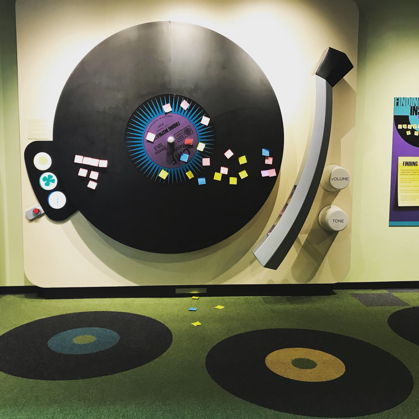 The giant record player is a fun thing to do in Nashville.