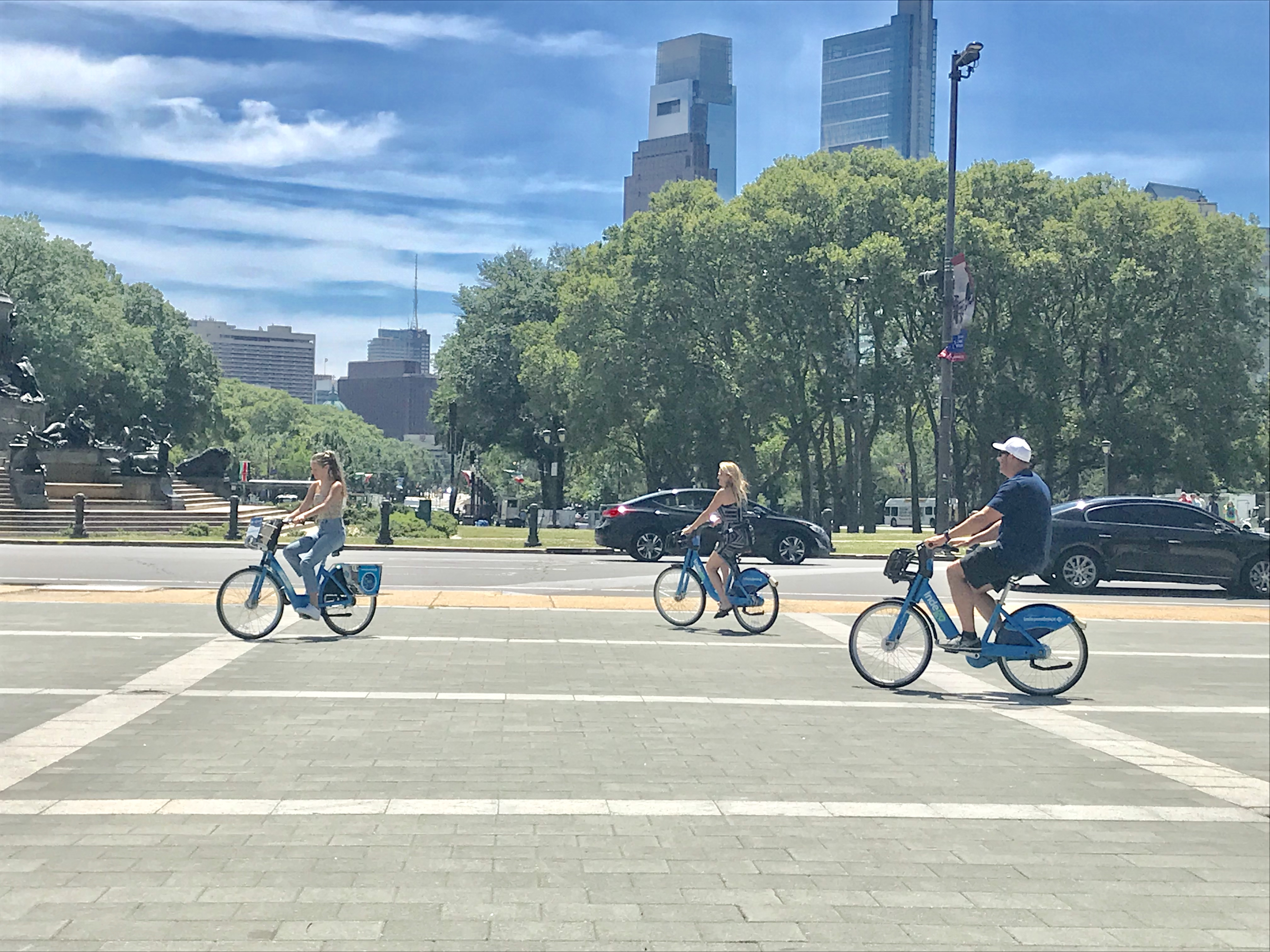 Biking in Philadelphia has a big city feel, but it's safe and family friendly.