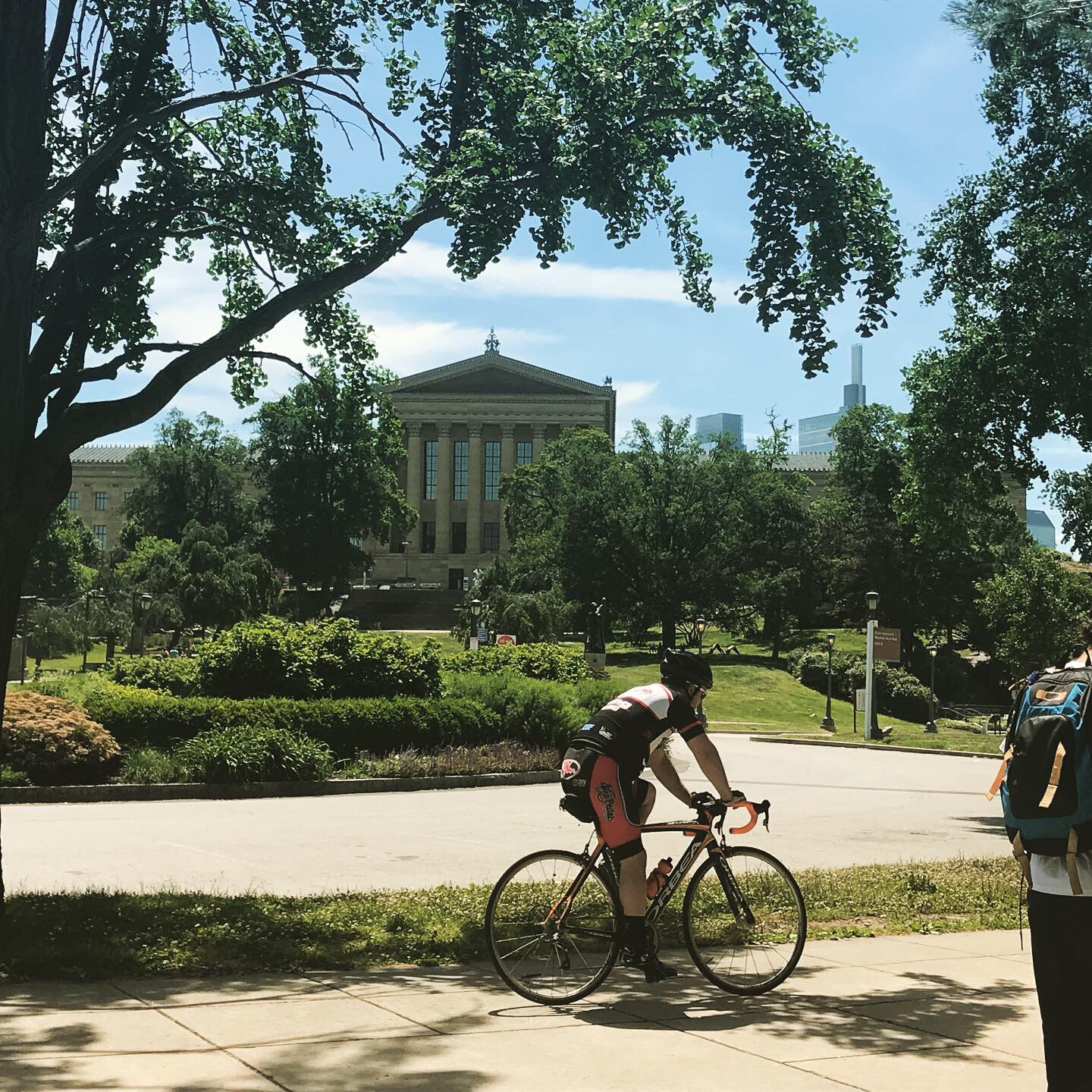 You can bike without helmets in Philly.