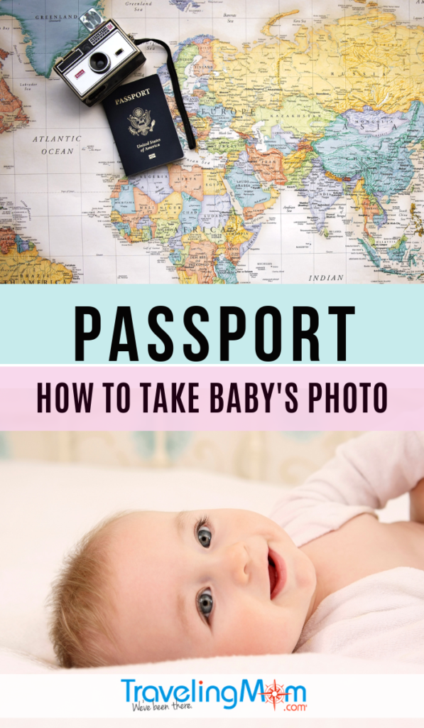 The specifics of taking a passport photo are very particular. So how can you properly take a squirmy baby's photo for their passport? These are the must-read tips before submitting your newborn's first passport paperwork. #TMOM #TravelTips #BabyTravel | TravelingMom | Travel with a Baby