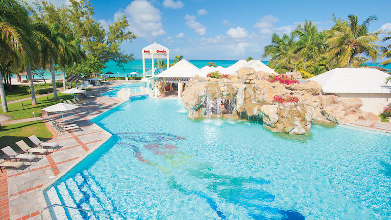 Beaches Resort pool, a leading family all inclusive resort property
