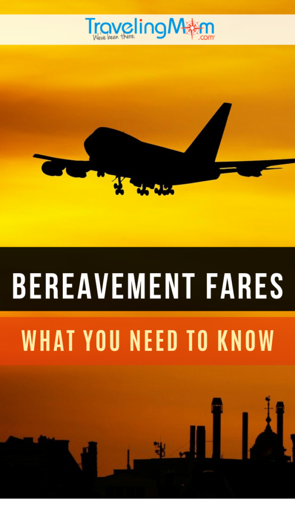 What is a bereavement fare and how do they work? If you're flying to a funeral, read these tips before you book your flight. #TMOM #TravelTips | Airline Tips | Flying on a Budget | TravelingMom