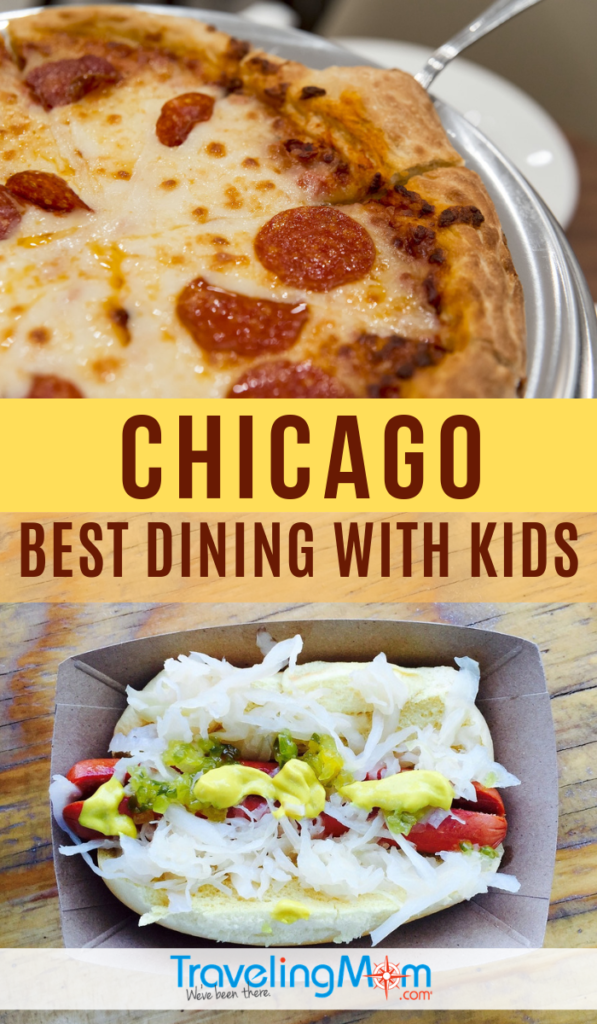 Where can you find the best pizza and hot dogs in Chicago? These are TravelingMom's favorite restaurants in Chicago to take the kids, including budget-friendly and splurge worthy. This list goes farther including comfort food, bbq and breakfast. #TMOM #Chicago #Restaurants | Eating Out | Family Travel