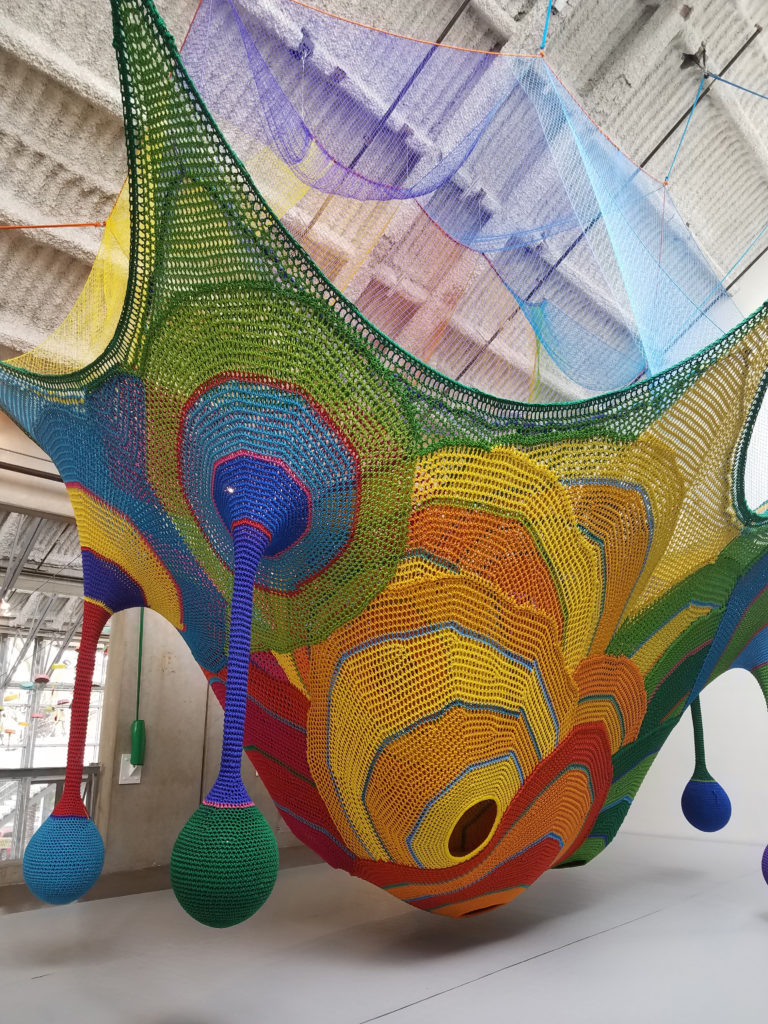 Whammock! art and play sculpture at San Diego New Children's Museum
