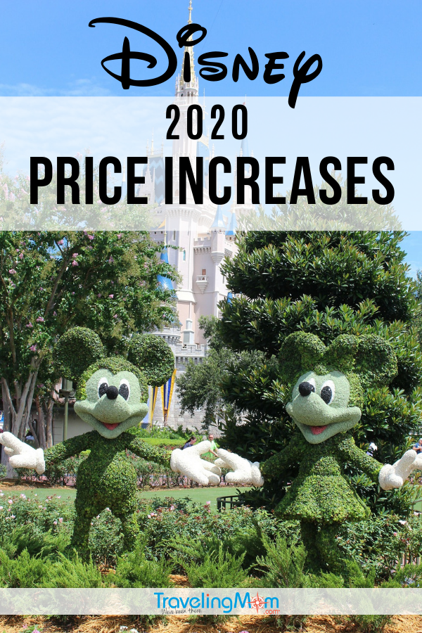 Costs are changing at Disneyland and Walt Disney World in 2020. Find out what a Disney vacation will cost you next year with these newly released Disney prices. #TMOM #Disney #Disneyland #DisneyWorld | TravelingMom | Disney on a Budget