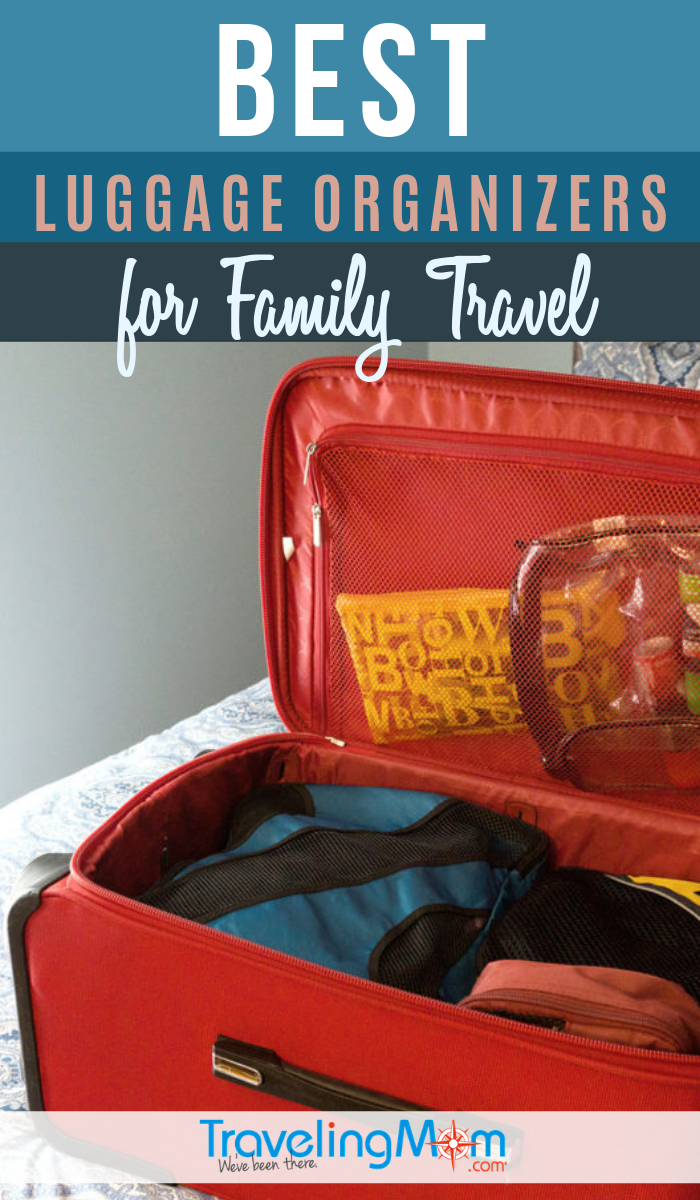 If you want to stay organized and orderly on vacation, these are the BEST luggage organizers for family travel! Everything has a place in your suitcase with these convenient bags and cubes. Find out which ones pass the TravelingMom test! #TMOM #Packing #Luggage | Packing Tips