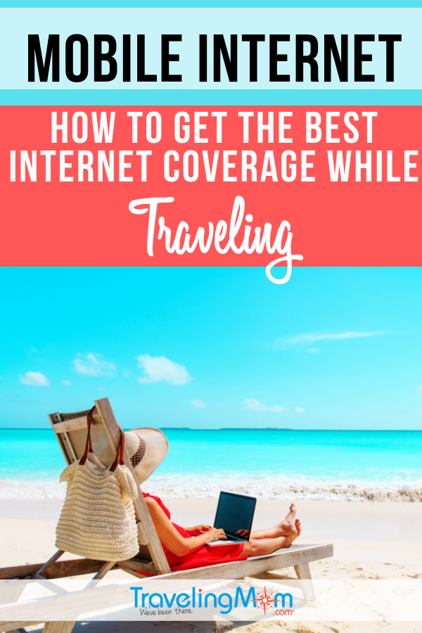 If you're traveling, you might wonder how to stay connected to the internet (without costing a ton!). Check out these tested tips for how to get the best mobile internet coverage while traveling. #TMOM #Internet #TravelTips | TravelingMom