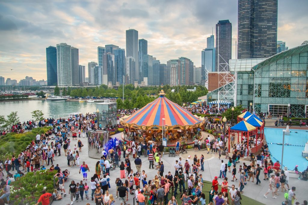 Navy Pier's rides and activities make it a family-friendly place. Photo courtesy of Choose Chicago.