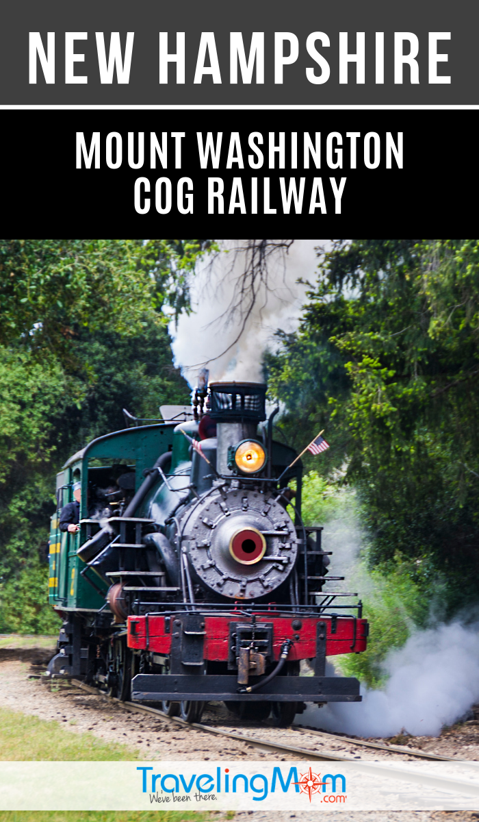 "A road trip through New Hampshire deserves a stop for the Mount Washington Cog Railway. }Rail Fans"" and train-lovers will enjoy learning about the history of the Railway & how to hitch a ride. #TMOM #Trains #NewHampshire 