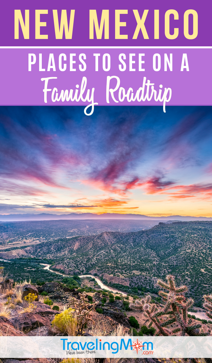 "Explore beautiful New Mexico on a family road trip. From UNESCO World Heritage sites to quirky ""alien"" encounters, the Land of Enchantment is a great family road trip destination. #TMOM #NewMexico #RoadTrip 