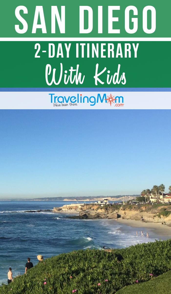 Only have 48 hours to spend in San Diego? Kids from toddler to teen (all in-between!) will find family-friendly activities in this beautiful Southern California beach city. #TMOM #SanDiego #SoCal | TravelingMom | Travel Itinerary | Family Travel