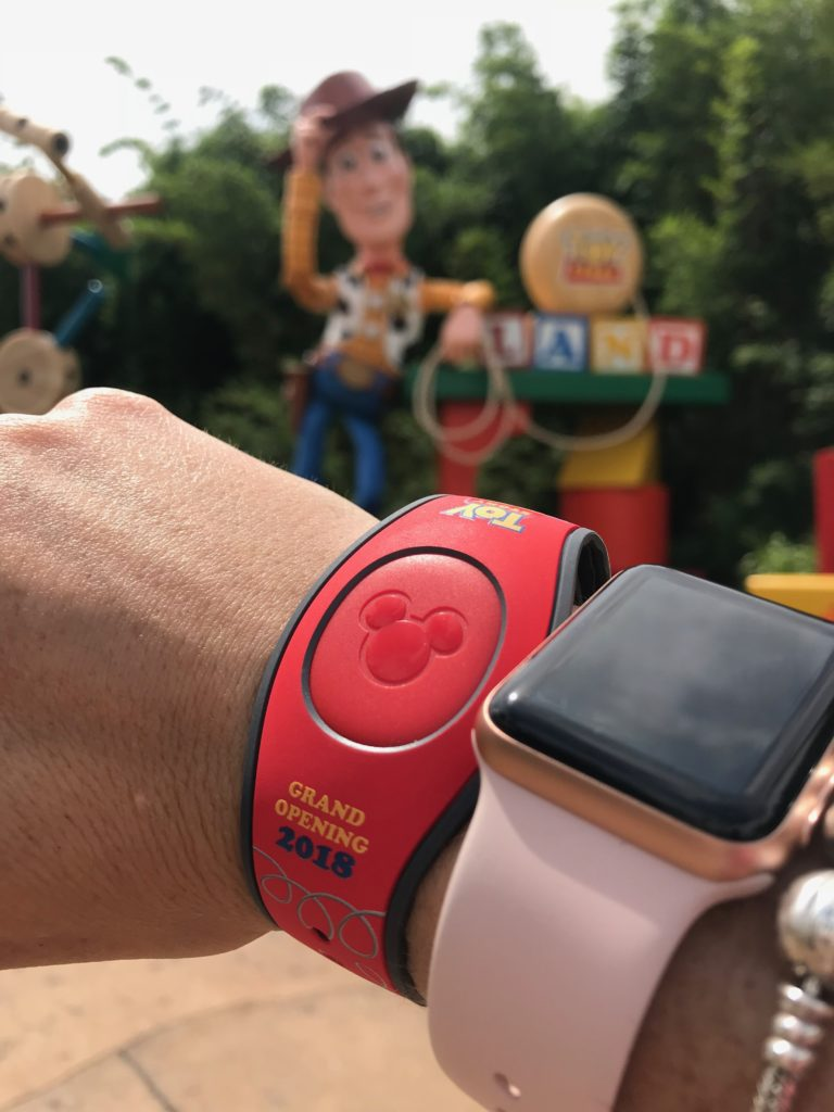 Limited edition Toy Story Land MagicBand from Opening Day.