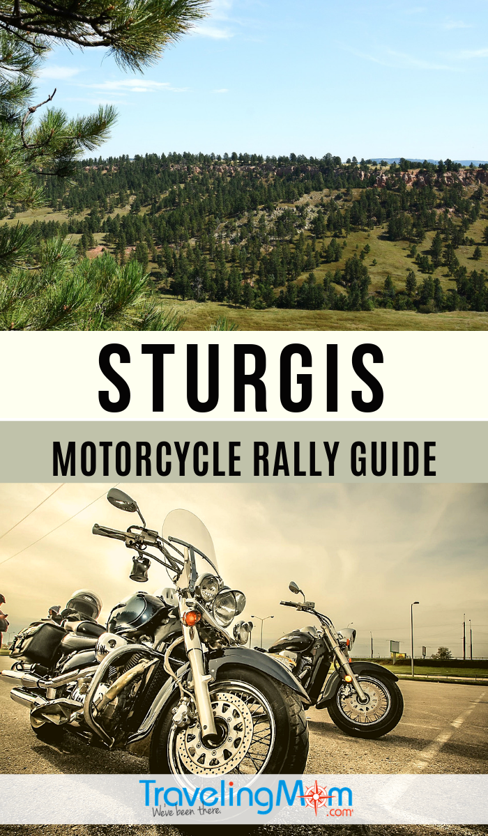 Heading to Sturgis North Dakota for bike week? This is your guide to the popular Motorcycle Rally held in the Black Hills. #TMOM #Sturgis #Motorcycle | TravelingMom #Sturgisbikeweek #familyvacation #blackhills #sturgismotorcyclerallyguide