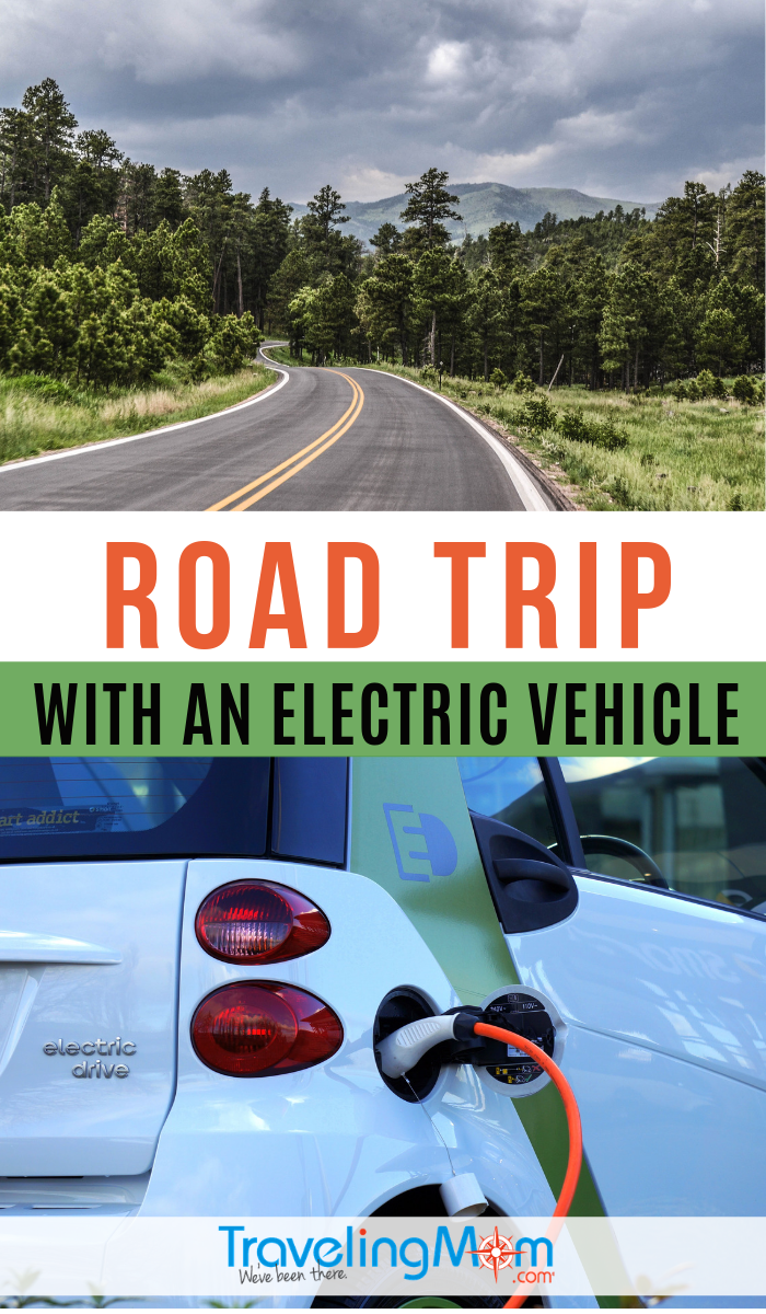 Can you take an electric vehicle on a road trip? Find out the tips on driving an electric car including how to find charging stations & planning your route. #TMOM #ElectricVehicle #GreenTravel #RoadTrip | TravelingMom