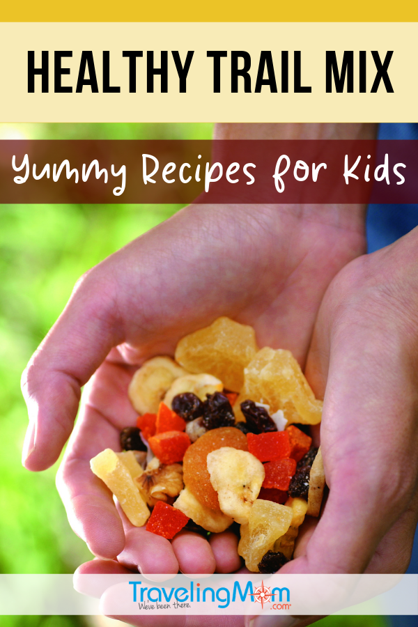 Whether you're on a road trip or hiking the trails, a good healthy snack for kids is imperative. These grab and go trail mix recipes are easy and healthier than other convenience options. #TMOM #Snacks #TrailMix | TravelingMom | Kid Recipes
