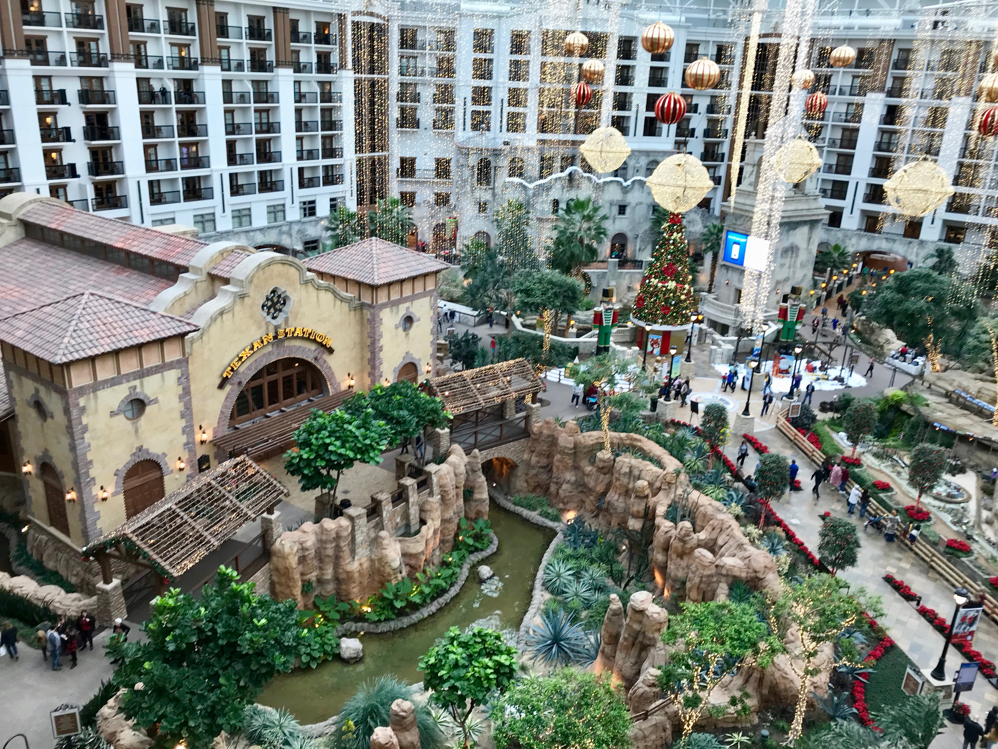 Gaylord Texan is a Texas resort with a huge, indoor atrium