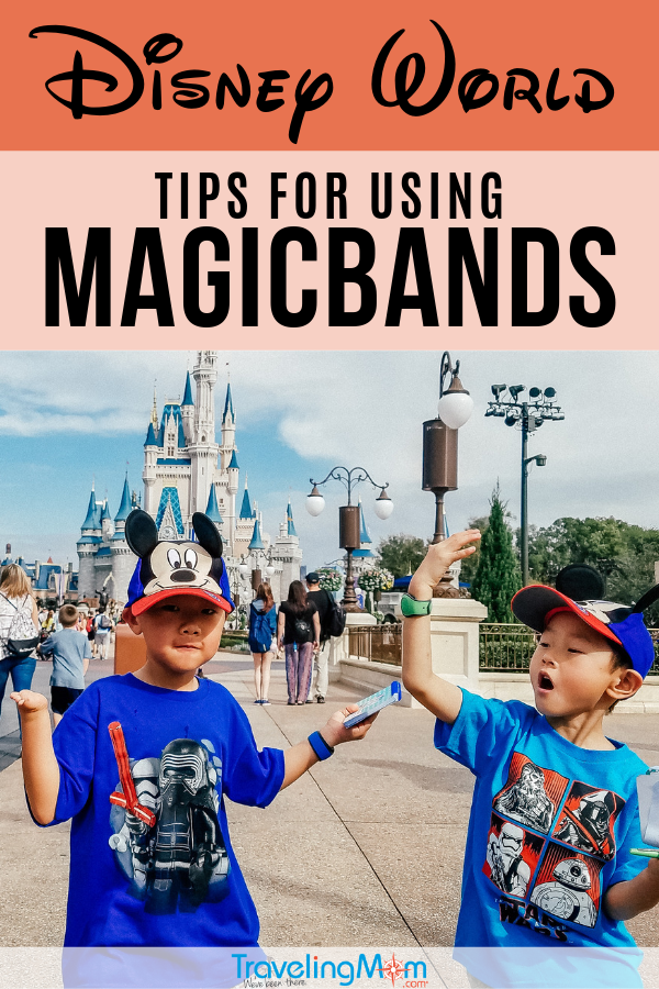 Magic bands at Disney World are a magical wristband that's your park ticket, Fastpass redemption, room key and payment method all in one! So what happens if you have a kid who is constantly taking it off (or worse, losing it?!) These are the expert tips for using Magicbands at Disney. #TMOM #Disney #Magicbands #Disneytips | TravelingMom
