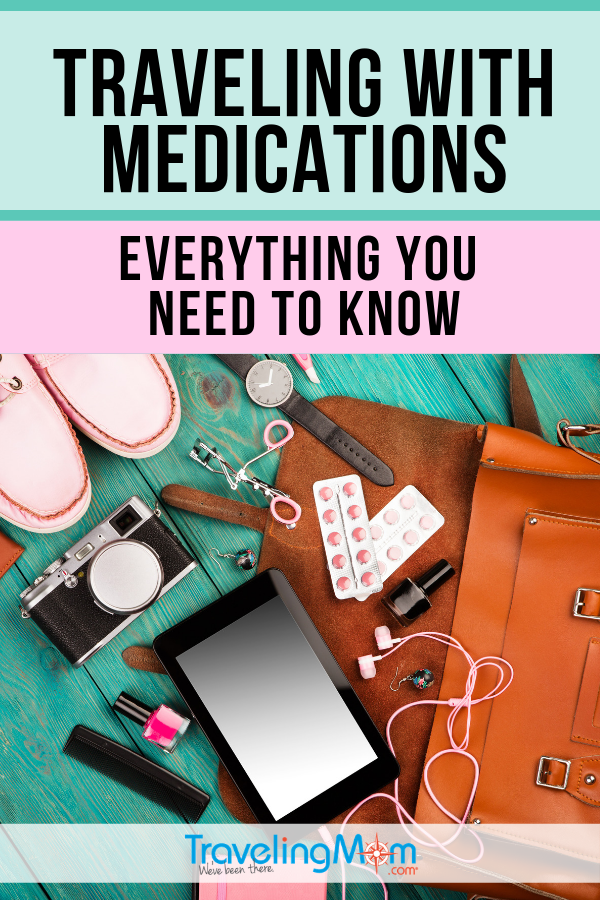 Before traveling with medications, these are the must-know tips before packing your bags. Whether it's navigating a road trip or getting through TSA at the airport, get all the details on travel with meds. #TMOM #Medication #TravelTips | TravelingMom | Medical Travel | Special Needs Travel | Grandparent Travel | Food Allergy