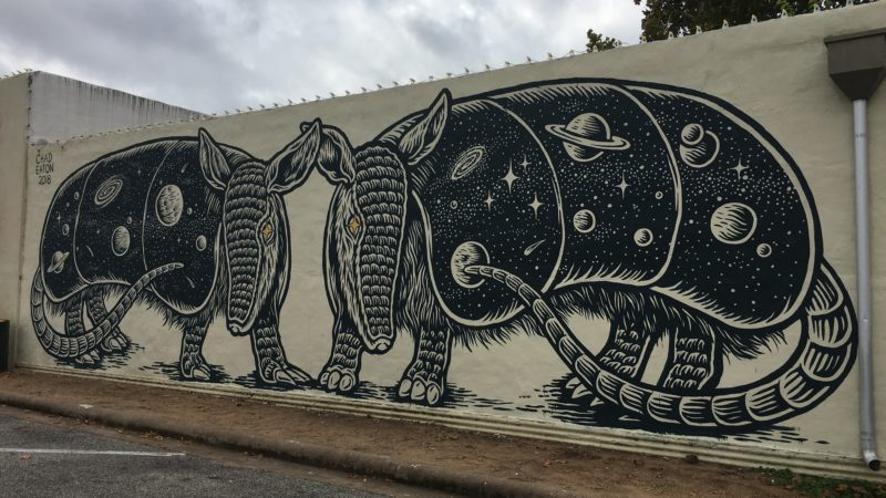If you're doing a day trips from Austin, check out the murals in Brenham Texas