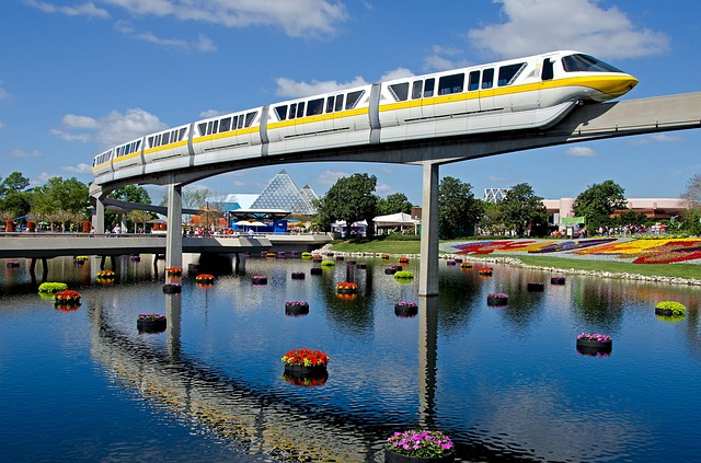 Use the monorail to hop between Disney World parks.