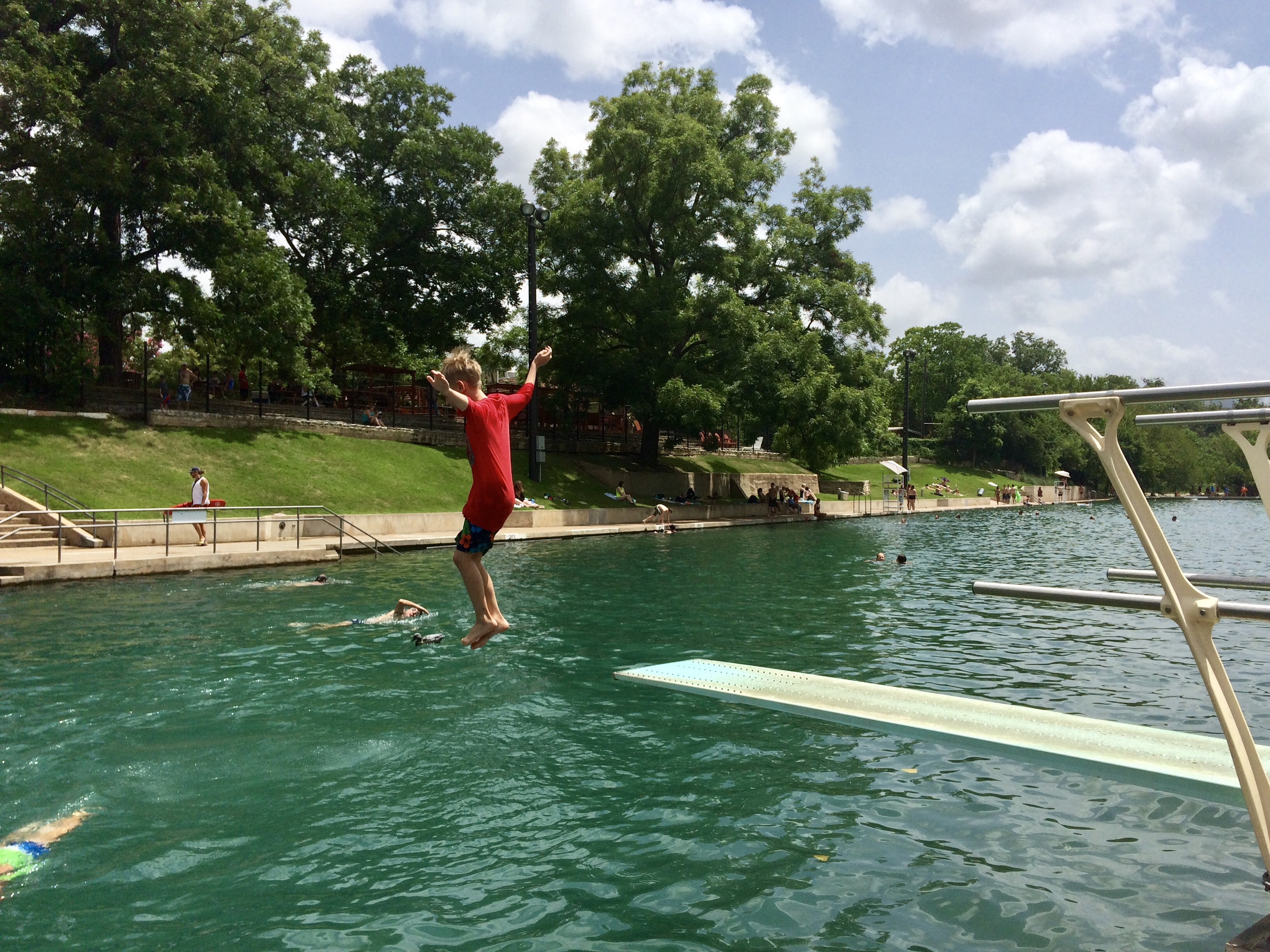 Barton Springs Pool is free at select times and is a fun thing to do in Austin