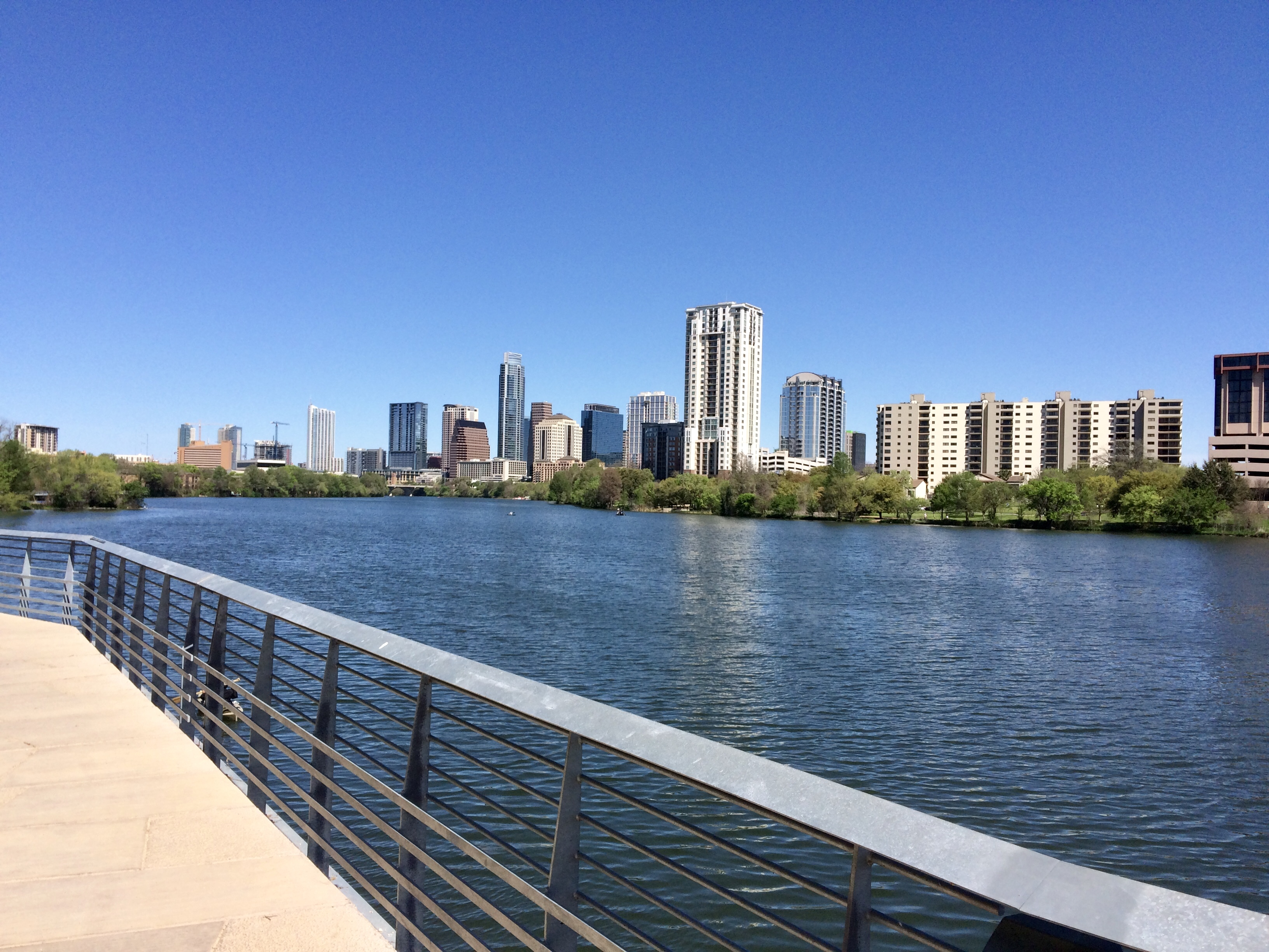 Walking the trails is a great free thing to do in Austin