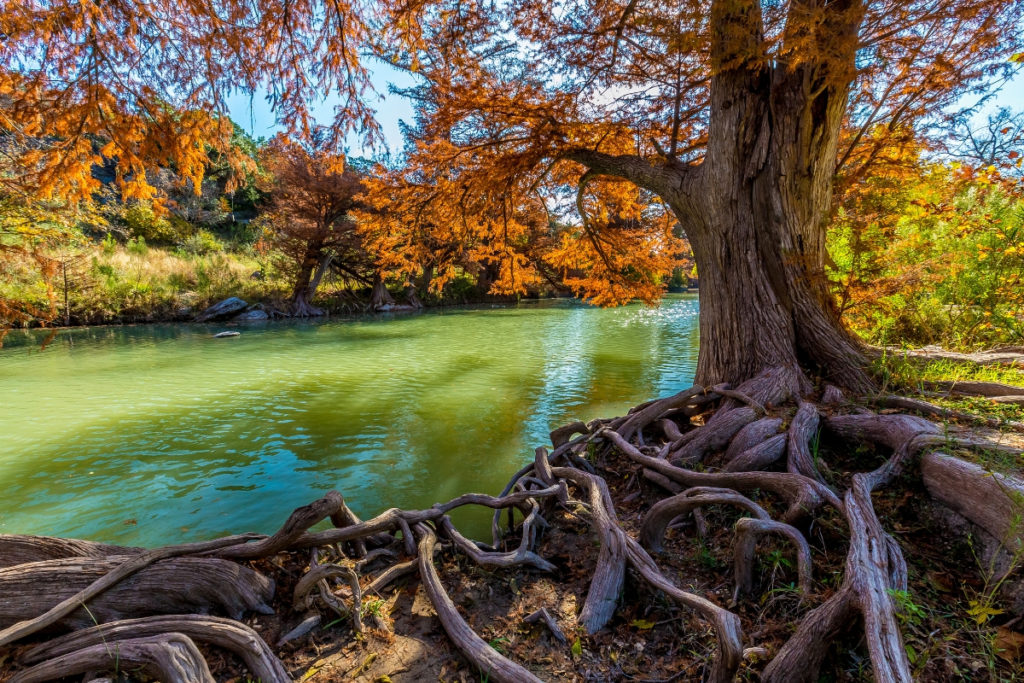 The Guadalupe River is a great place to float with the family.