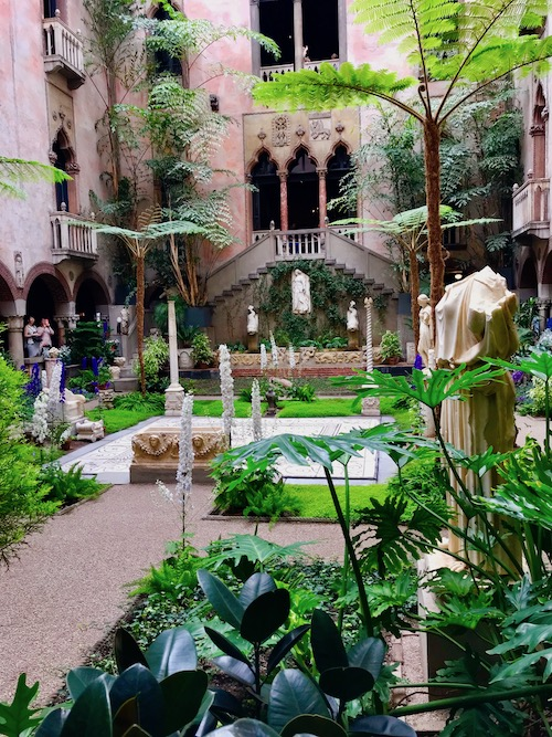 Courtyard at the Isabella Stewart Gardener, one of the best museums in Boston for kids