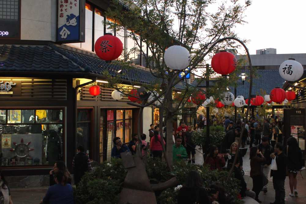 The Japanese Village Plaza is fun to visit with kids in Little Tokyo in Los Angeles