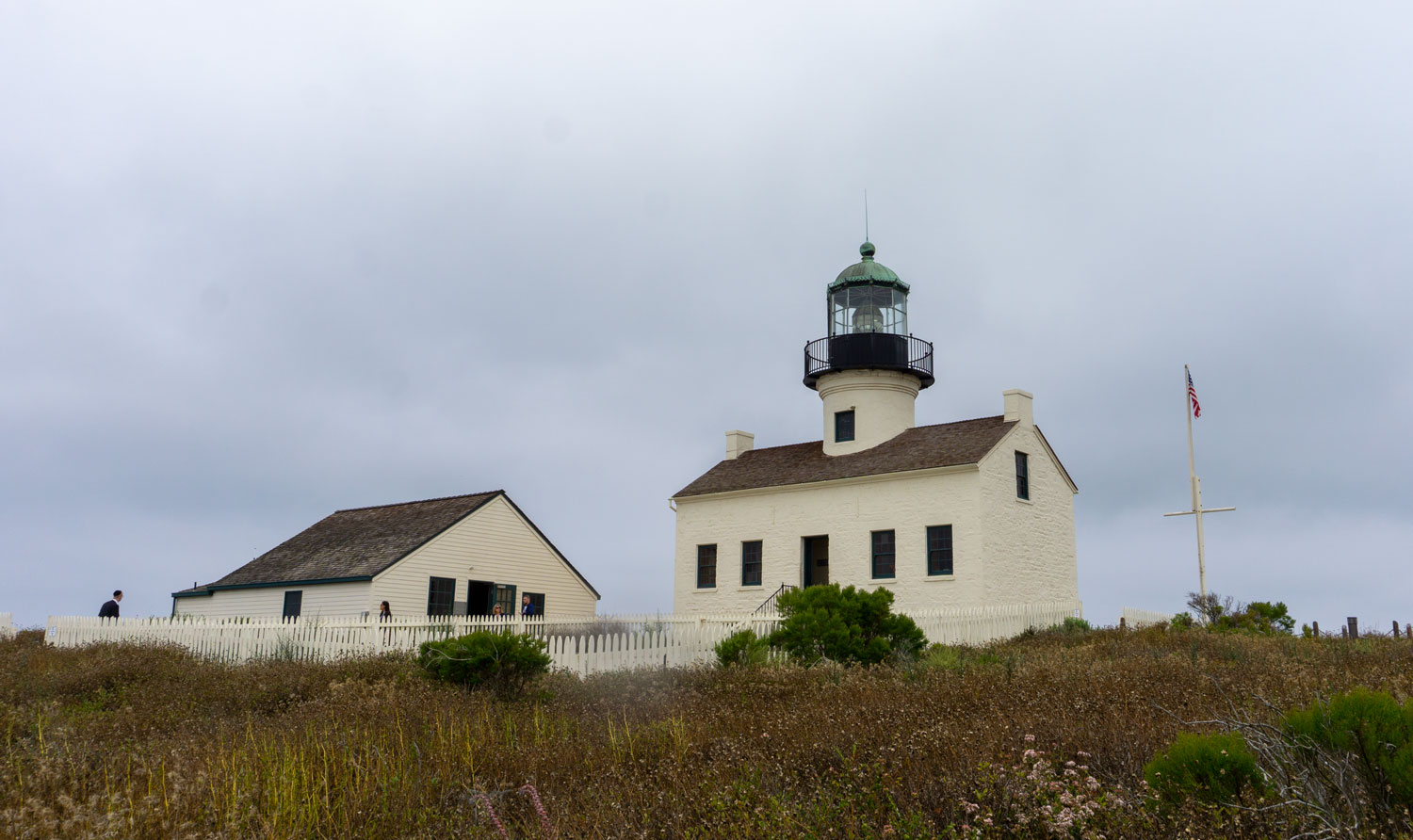 The lighthouse at Cabrillo National Monument.