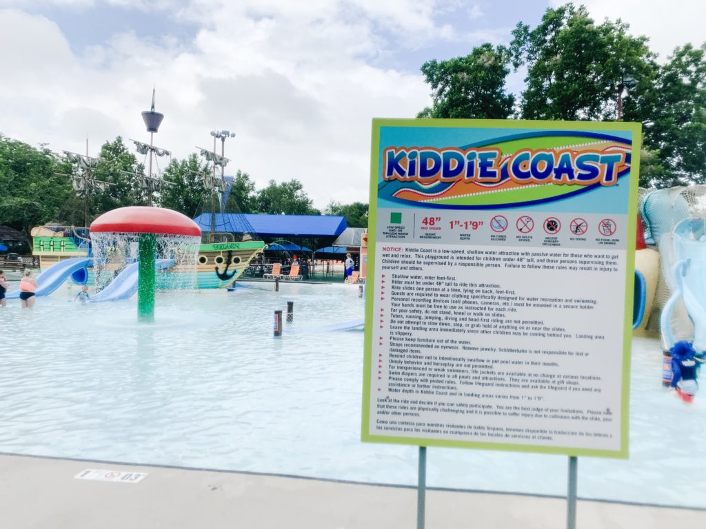 The Kiddie Coast is a fun play area for kids.