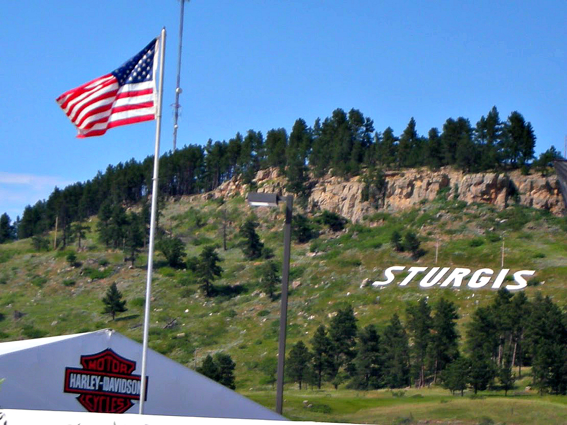 Thousands of motorcyclists arrive in Sturgis, SD during Sturgis Bike Week.