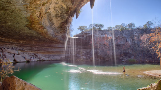 Hamilton Pool is one of the best Texas swimming holes