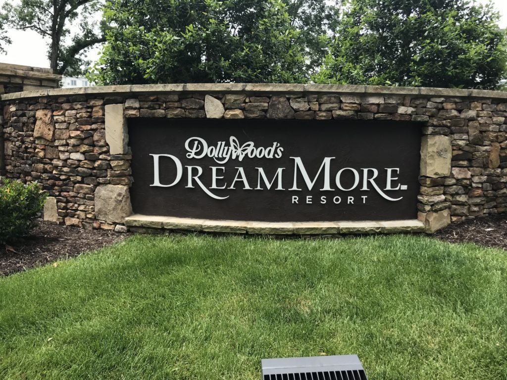 The sign at the Dollywood DreamMore.