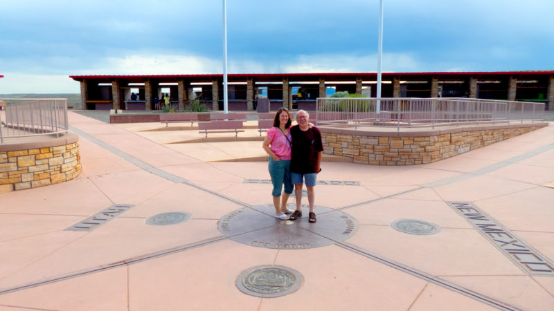 The granite form in which the brass Four Corners monument is set so visitors can take photos.