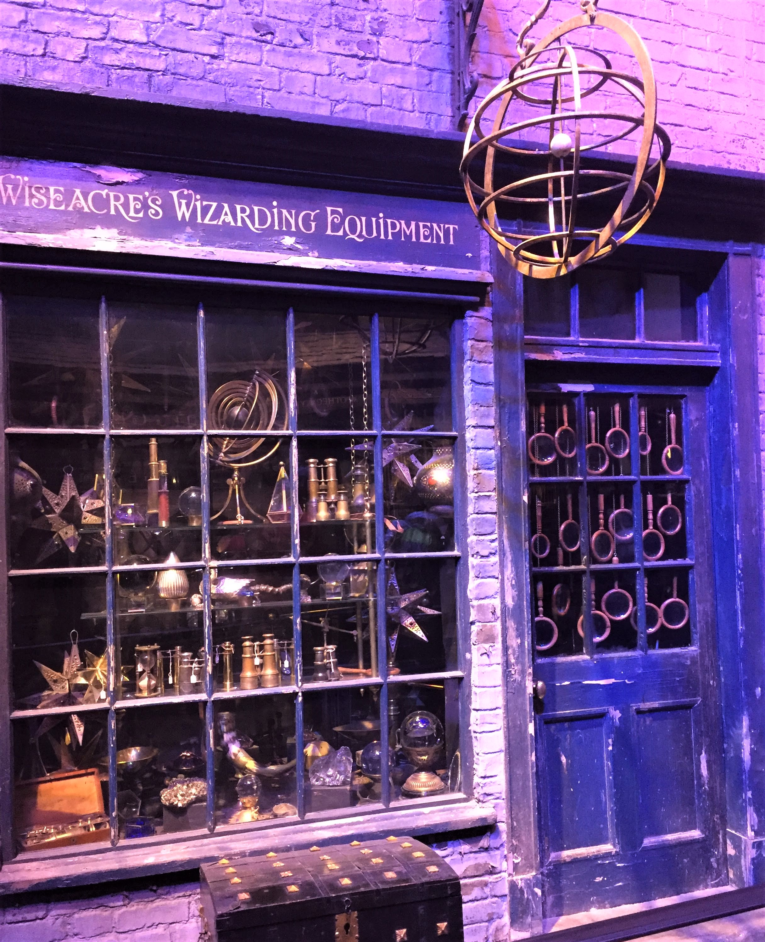 Diagon Alley storefront at the Harry Potter Studio Tour in London