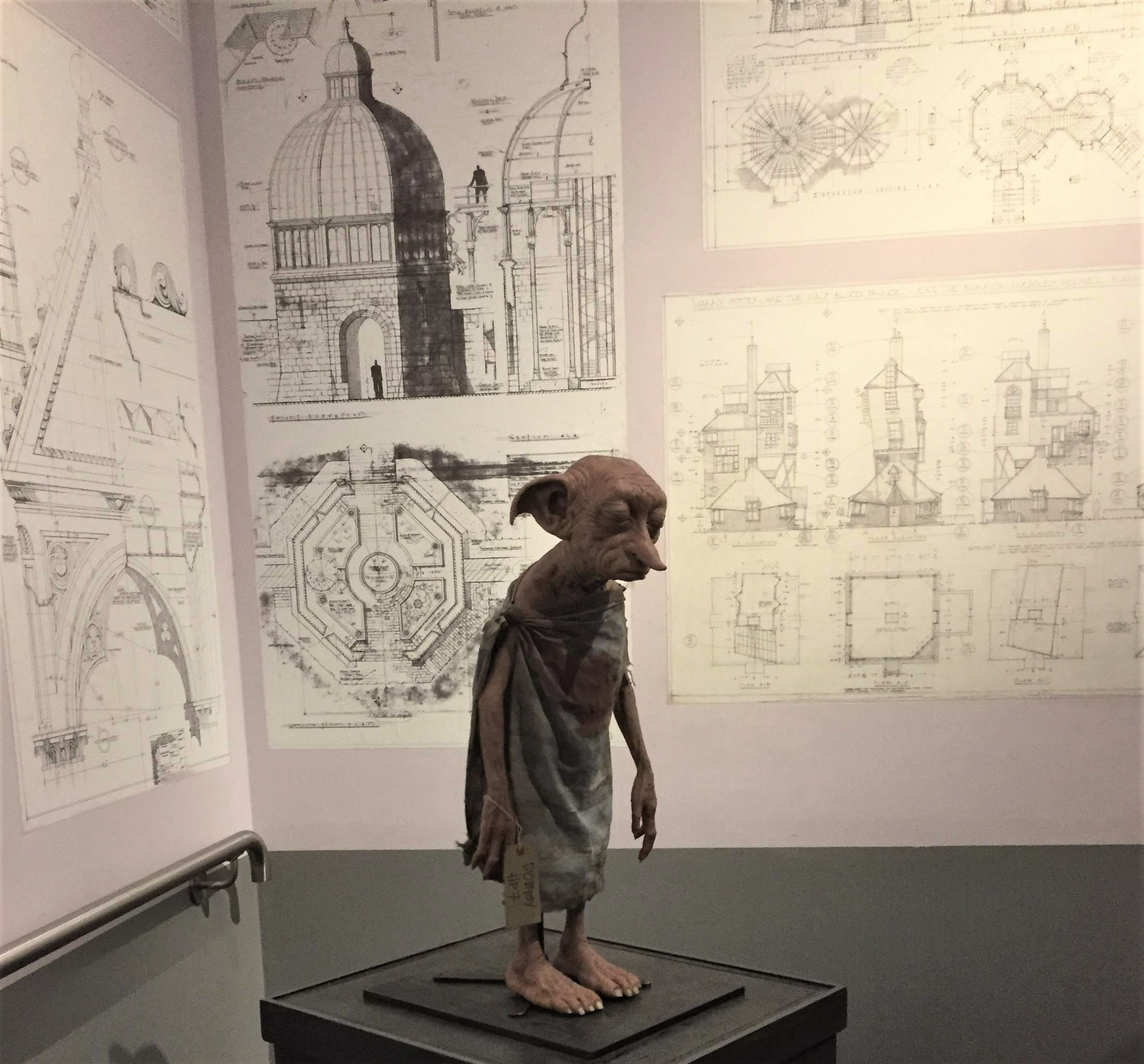 Model of Dobby the House Elf at the Harry Potter Studio Tour in London.