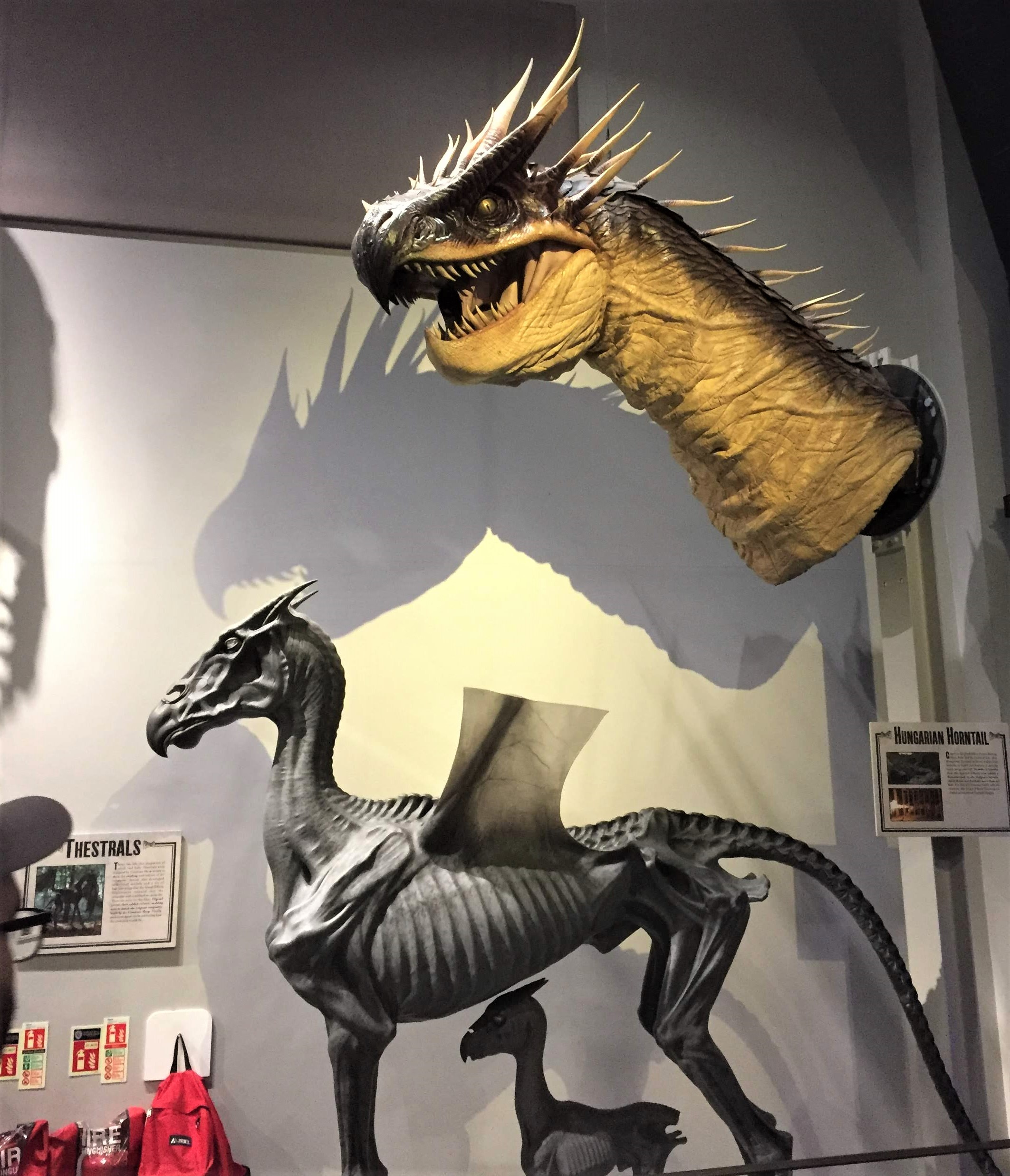 Creature models on display on the Harry Potter Studio Tour in London.